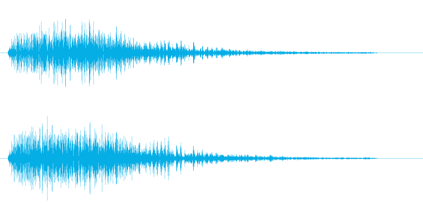 ばぁぁ?という鈍い音の再生済みの波形
