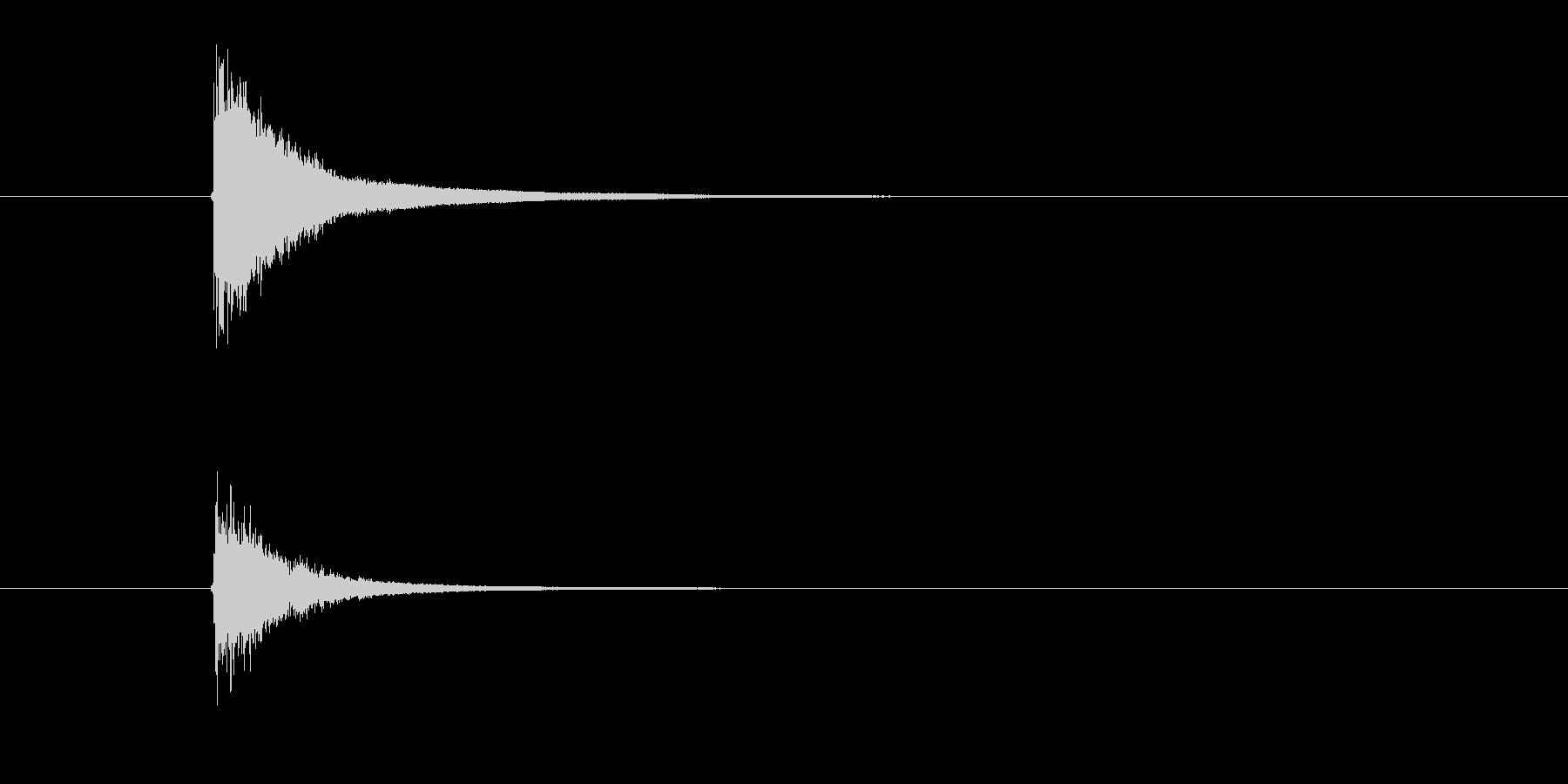 シンバル トライアングル (すちーん)の未再生の波形