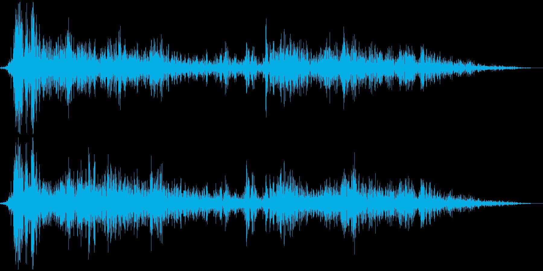 【爆発音01】様々なシーンで使える爆発音の再生済みの波形