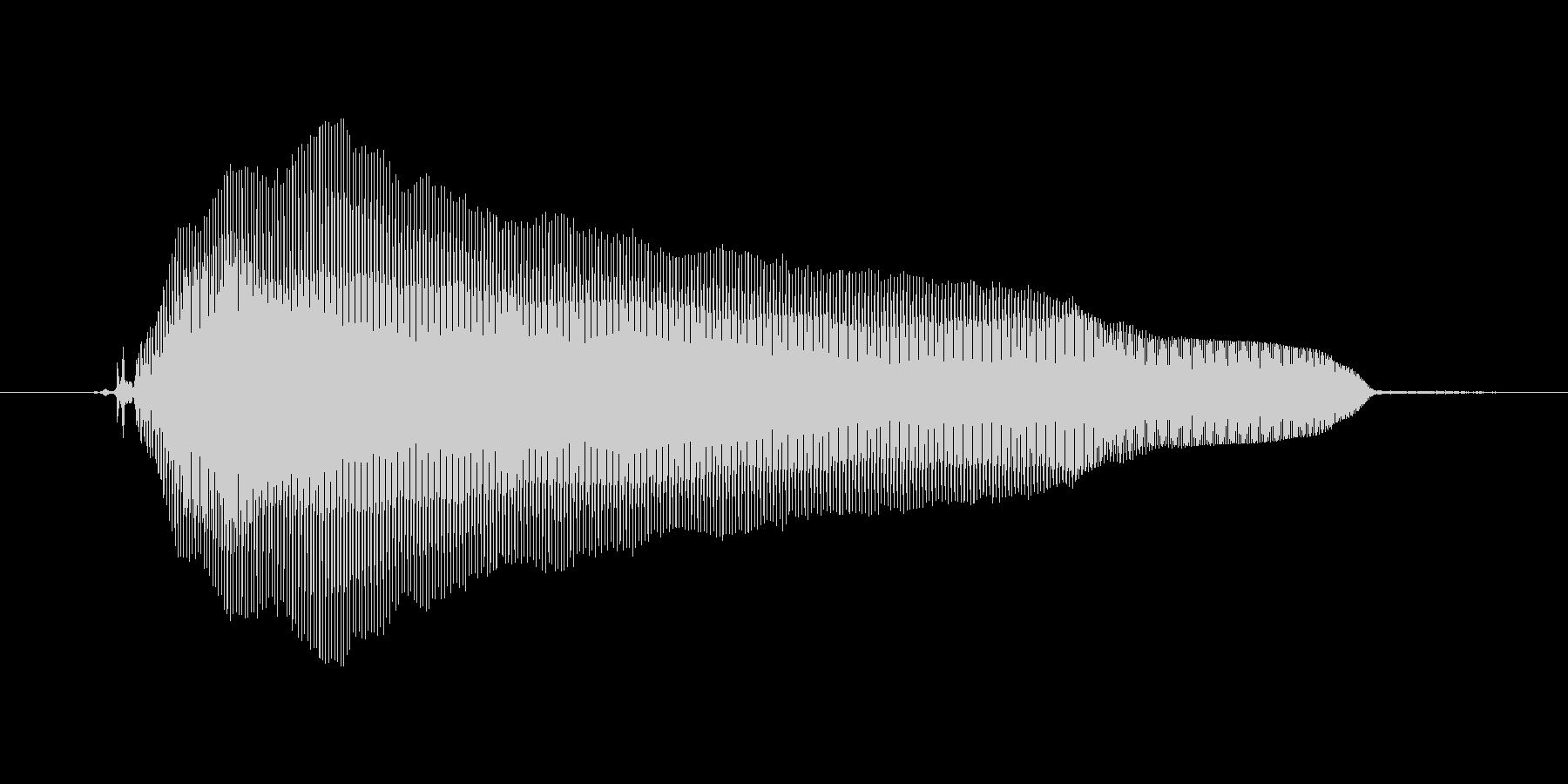 【ボイスSE】がーんΣ( ̄ロ ̄lll)の未再生の波形