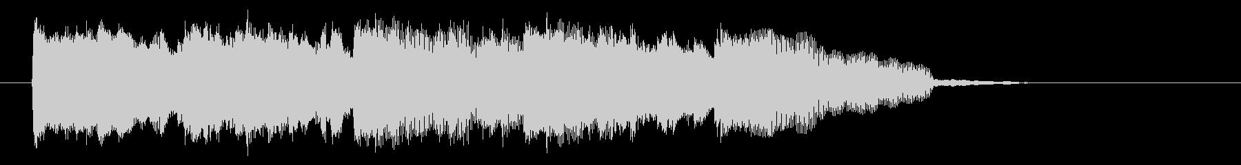 シンプルな軽やかで軽快なピアノジングルの未再生の波形