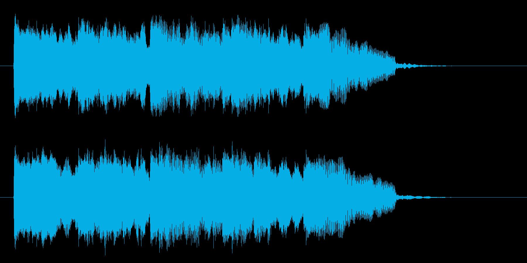 シンプルな軽やかで軽快なピアノジングルの再生済みの波形