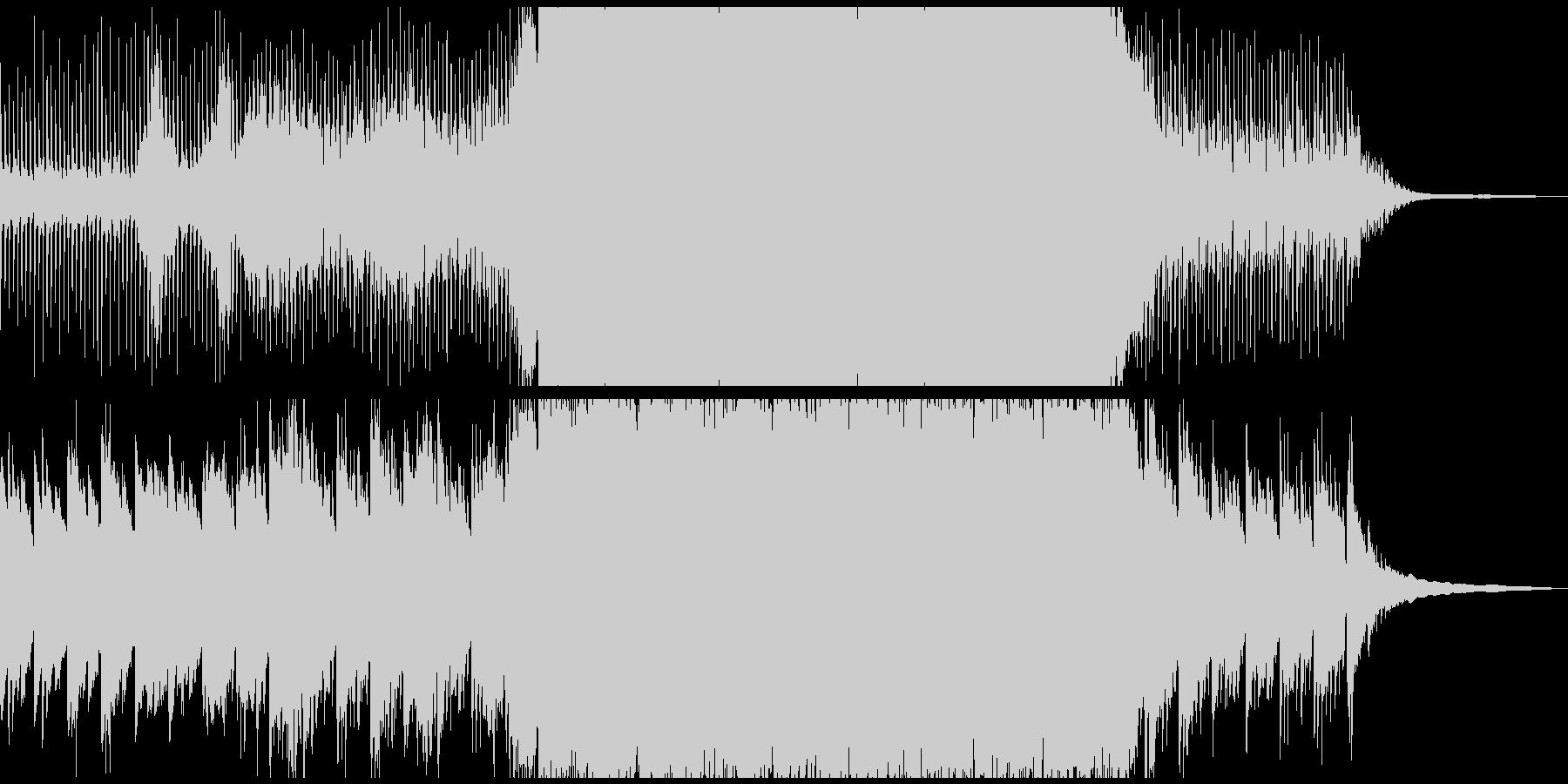 未来を感じる映像に 4つ打ちソフトロックの未再生の波形