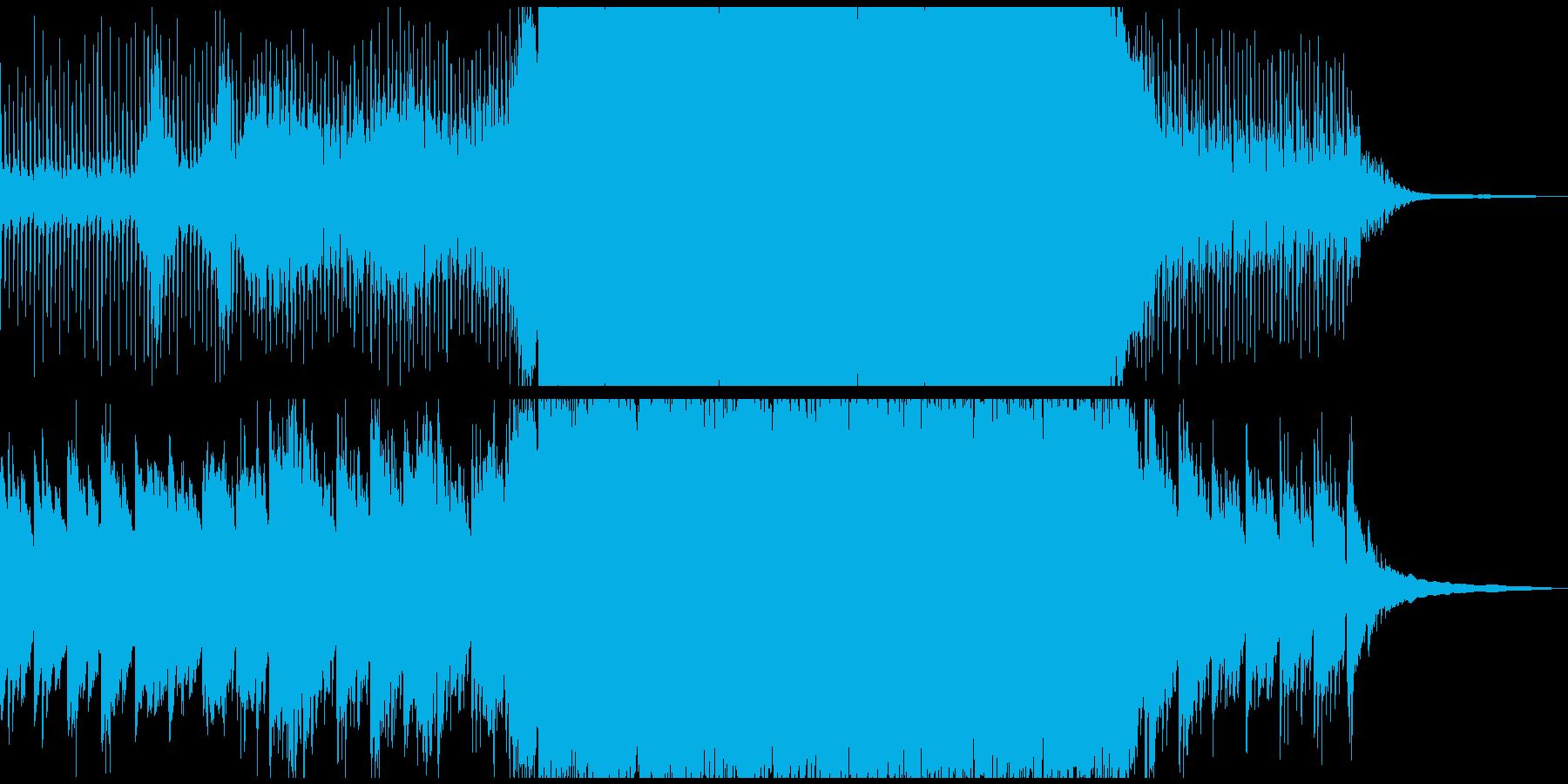 未来を感じる映像に 4つ打ちソフトロックの再生済みの波形