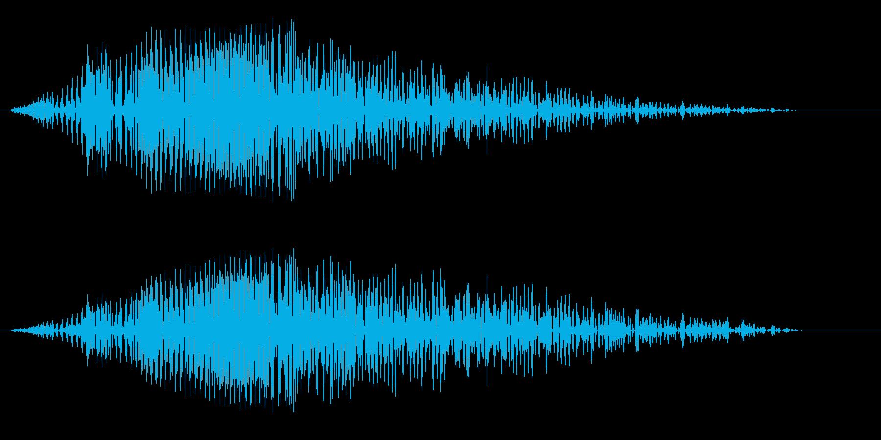プワァオン〜(宇宙や近未来の効果音)の再生済みの波形