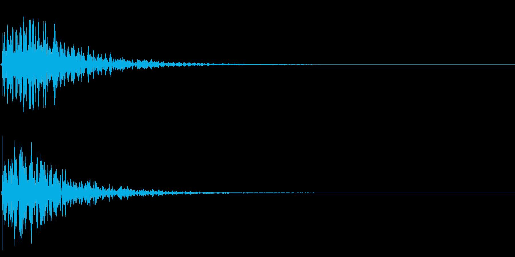 ゲームスタート、決定、ボタン音-097の再生済みの波形