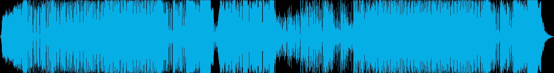 インパクト重視の攻撃的なEDMの再生済みの波形
