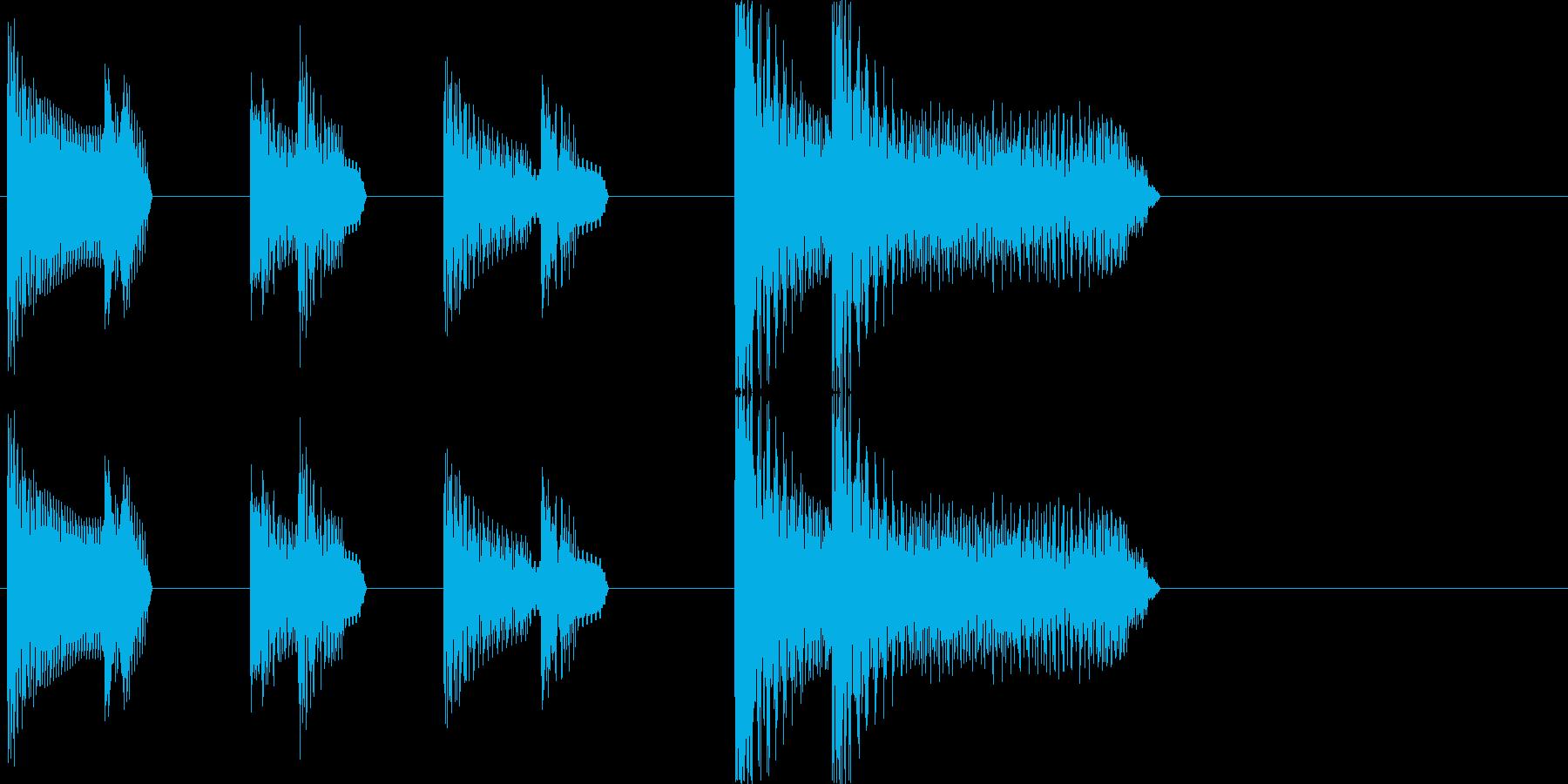 レトロゲーム風・ゲームオーバー#2の再生済みの波形