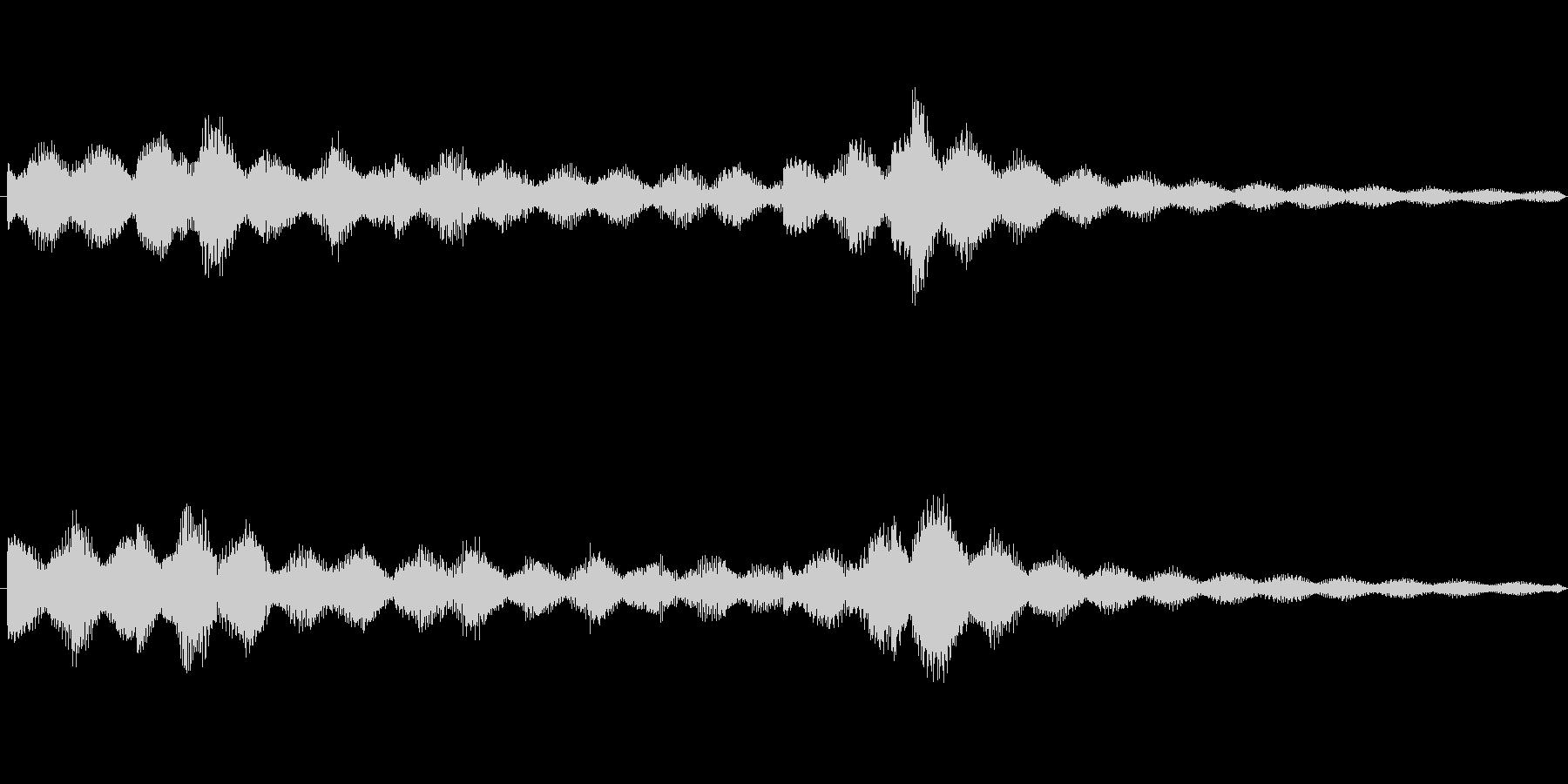 跳ねるような3連符のエレピのジングルの未再生の波形