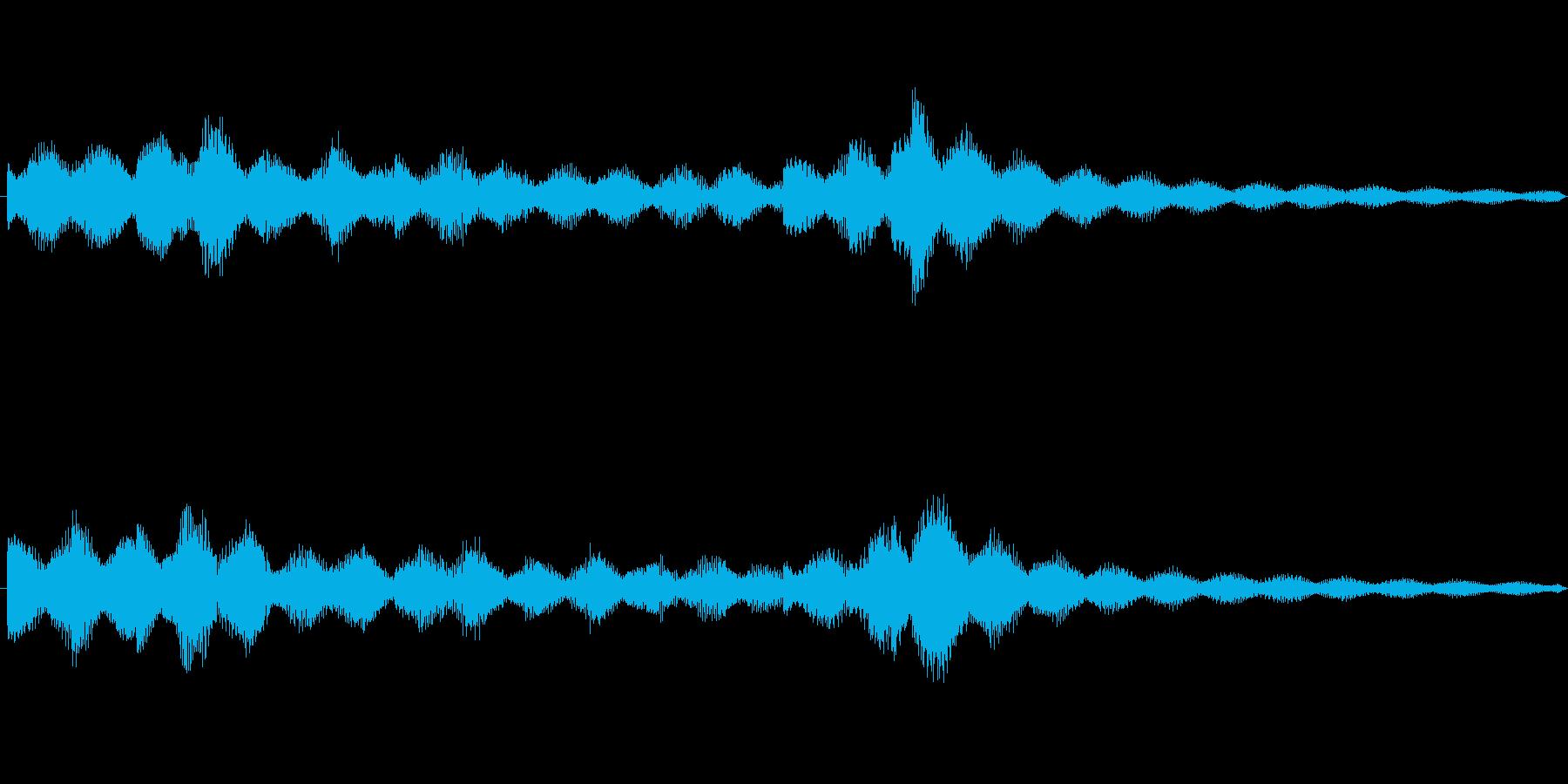 跳ねるような3連符のエレピのジングルの再生済みの波形