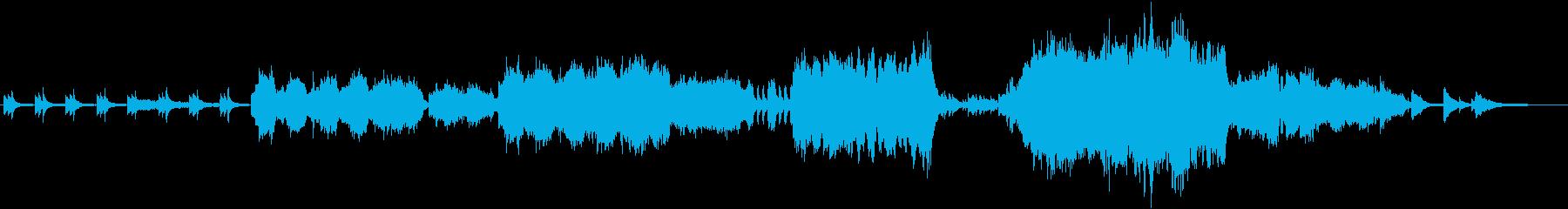 映像によくマッチする透明感が印象的な曲の再生済みの波形