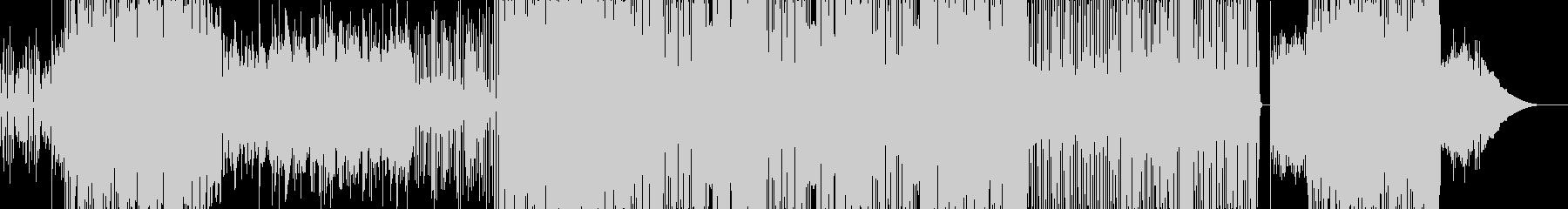 ファンキーなロックの未再生の波形