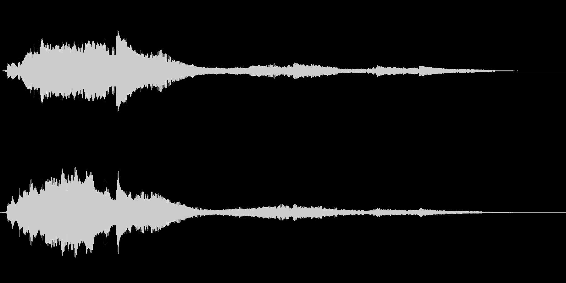 ゼンマイがテーマの綺麗な音の未再生の波形