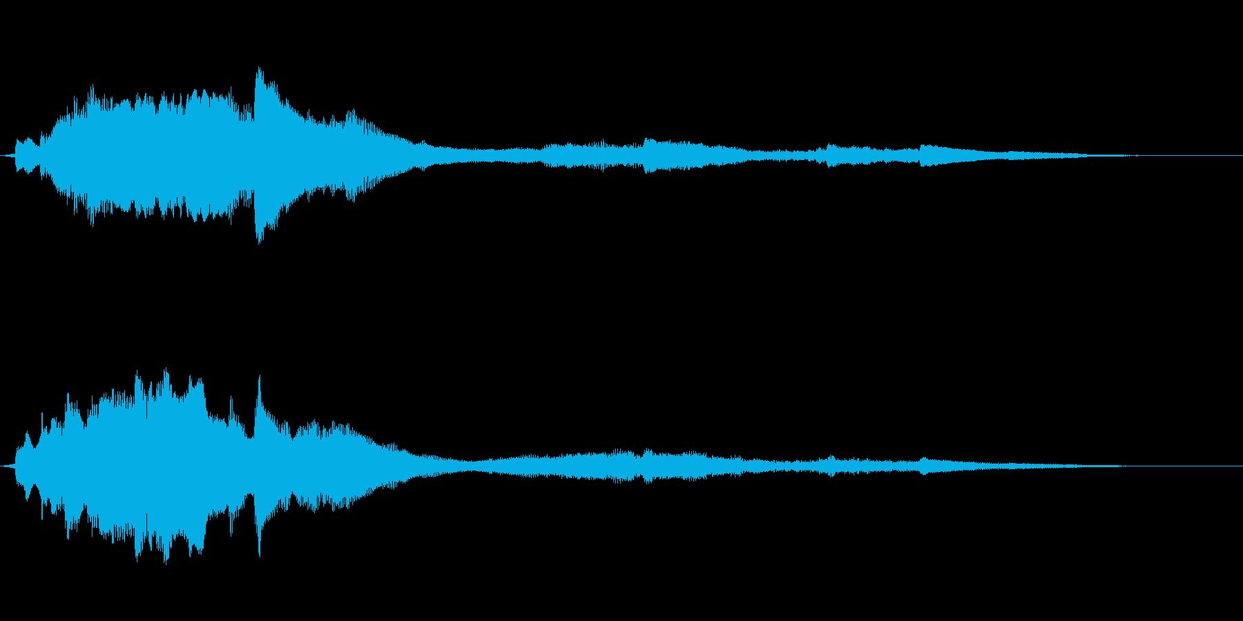 ゼンマイがテーマの綺麗な音の再生済みの波形