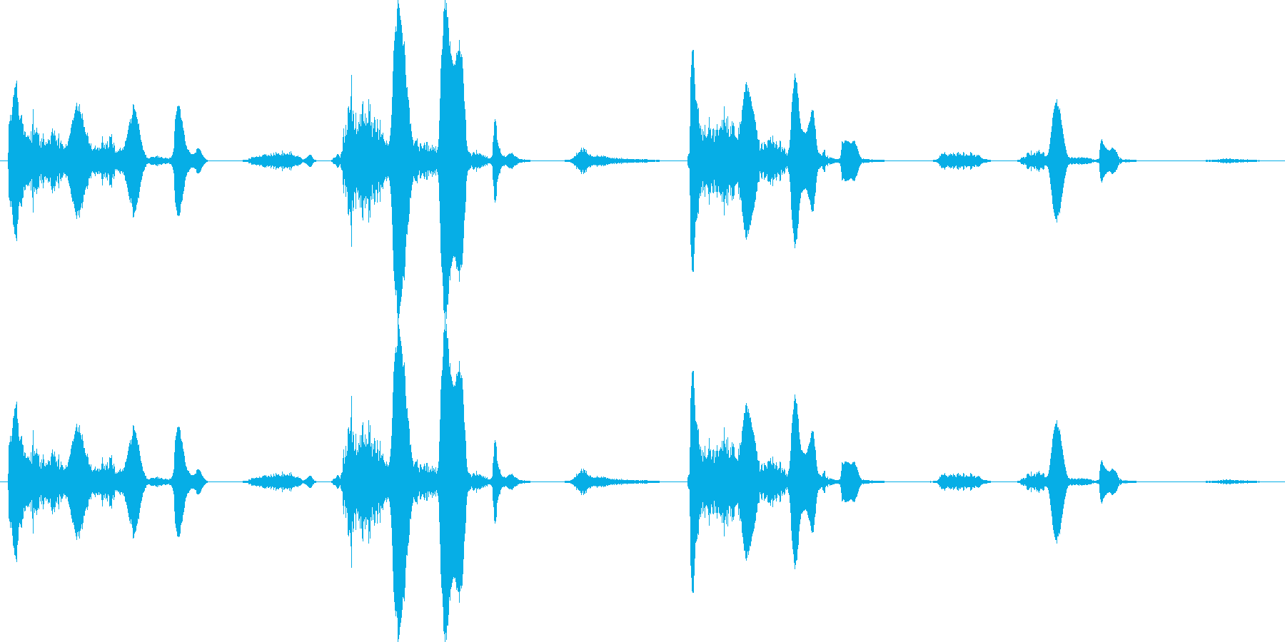 連続笑い3 うふふ【談笑、ホラー演出】の再生済みの波形