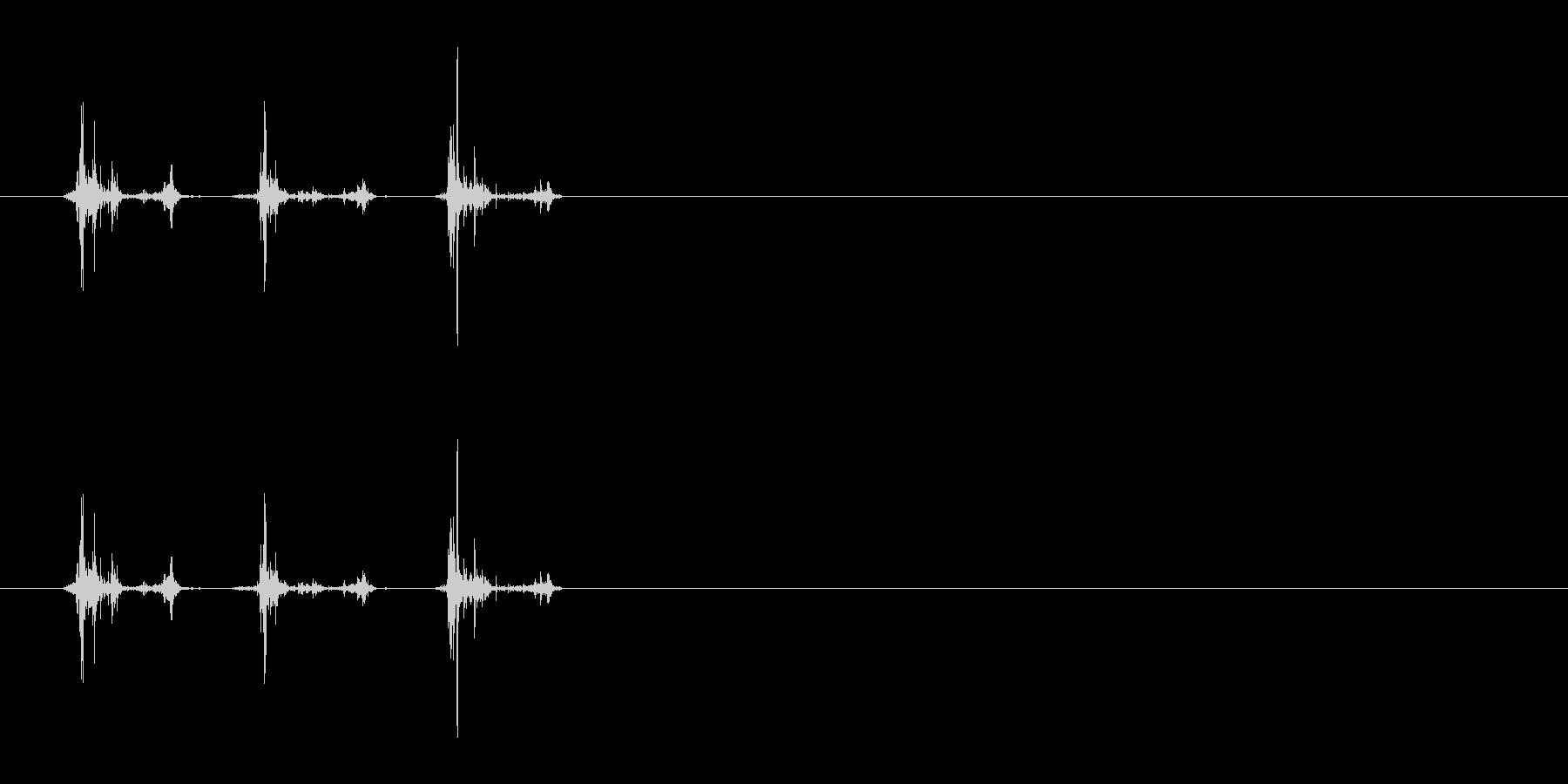マッチ箱を振る音(カシャカシャ)の未再生の波形