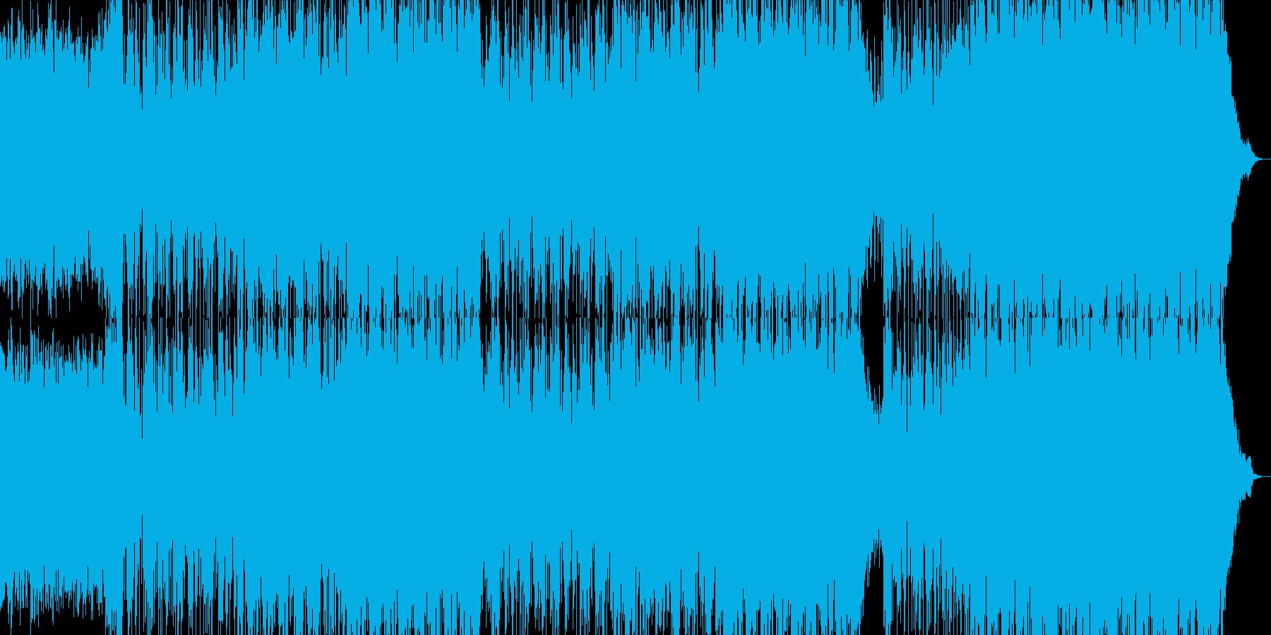 和風で明るい日本的な楽曲の再生済みの波形