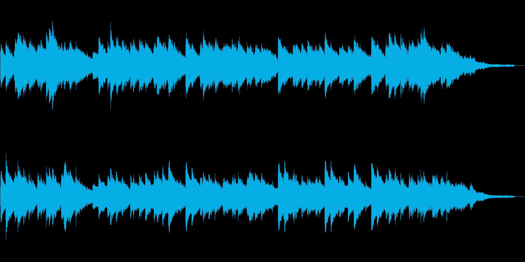 「蛍の光」 ピアノと鉄琴の再生済みの波形