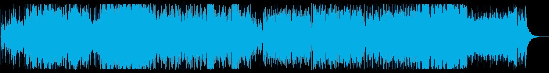 美しくドキドキ感のある弦管楽器サウンドの再生済みの波形