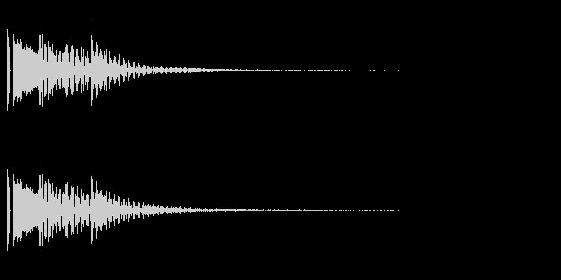 マリンバの決定音。「タタタタン」の未再生の波形