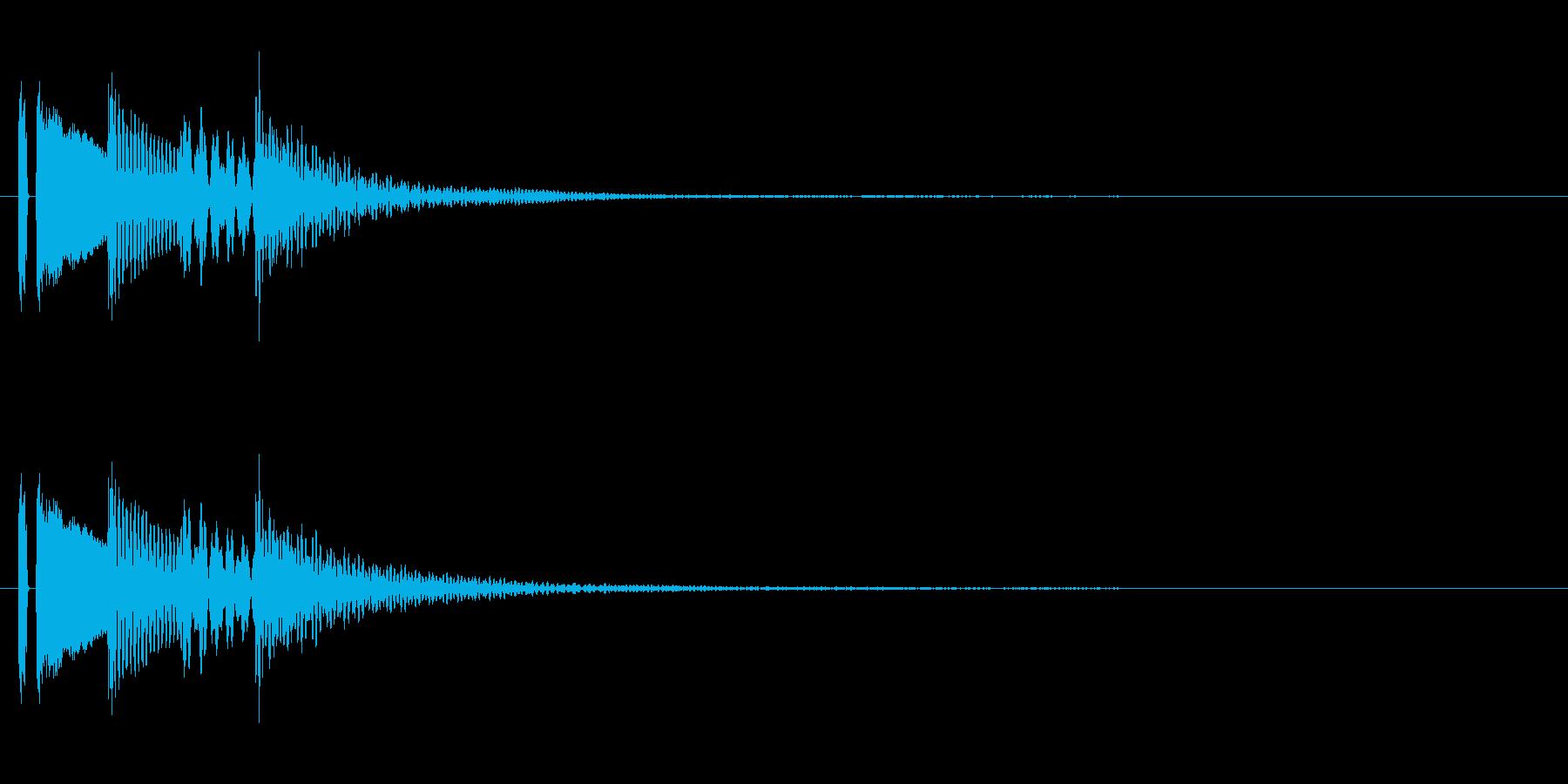 マリンバの決定音。「タタタタン」の再生済みの波形
