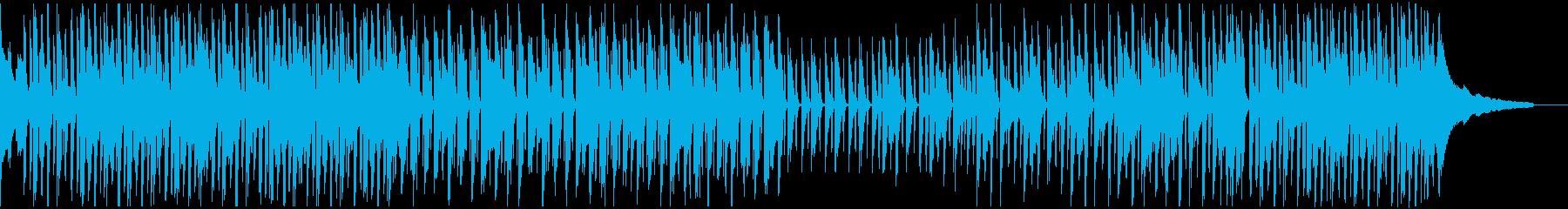 明るくハッピーで小気味よい曲の再生済みの波形