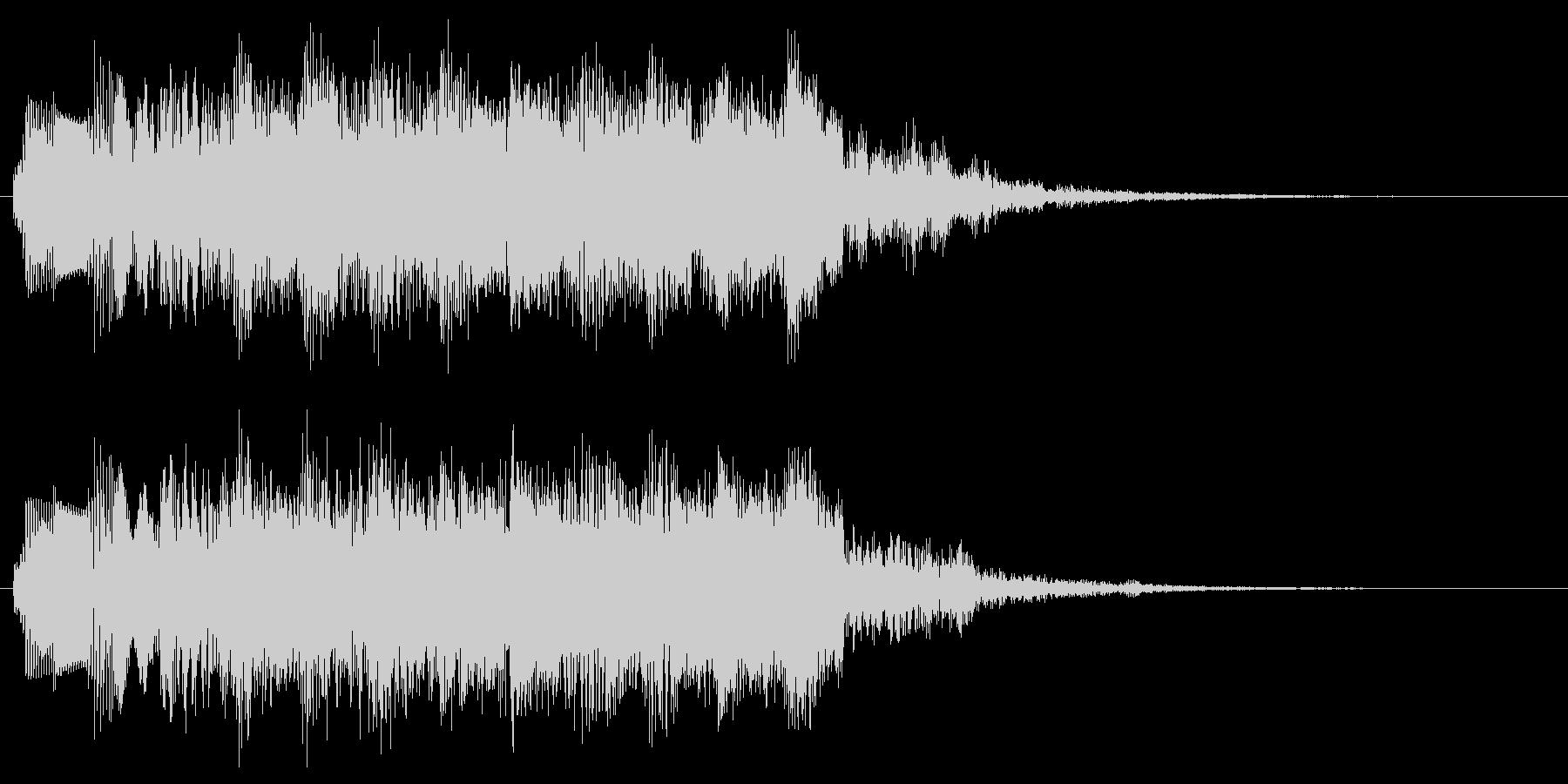 変な音 不思議な音のパワーアップ音の未再生の波形