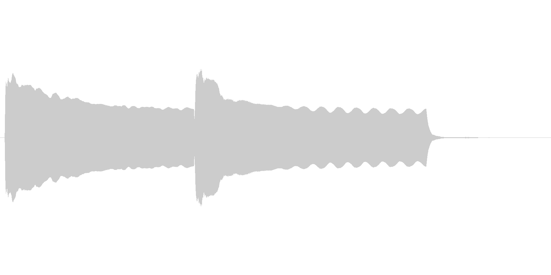 昔懐かしい豆腐屋の笛の音に似せた効果音の未再生の波形