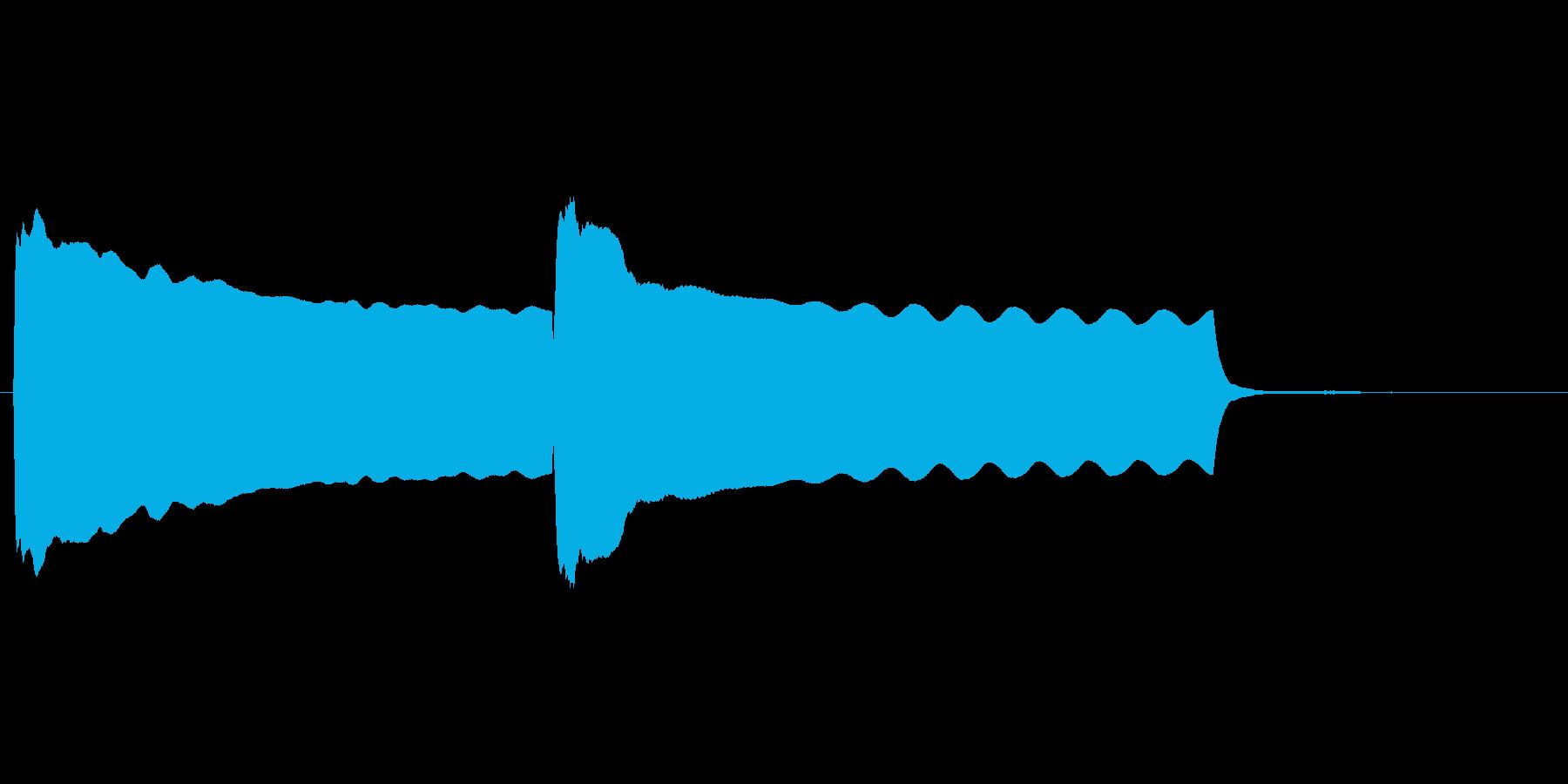 昔懐かしい豆腐屋の笛の音に似せた効果音の再生済みの波形