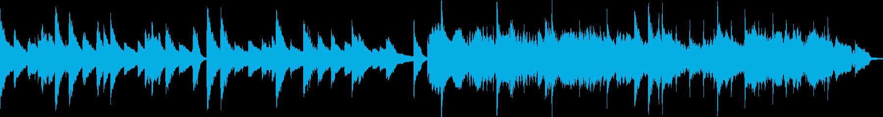 感動系 ロマンティックなさしいピアノ曲の再生済みの波形