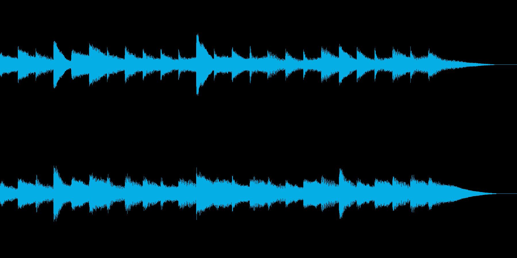 おしゃれなBGMの再生済みの波形
