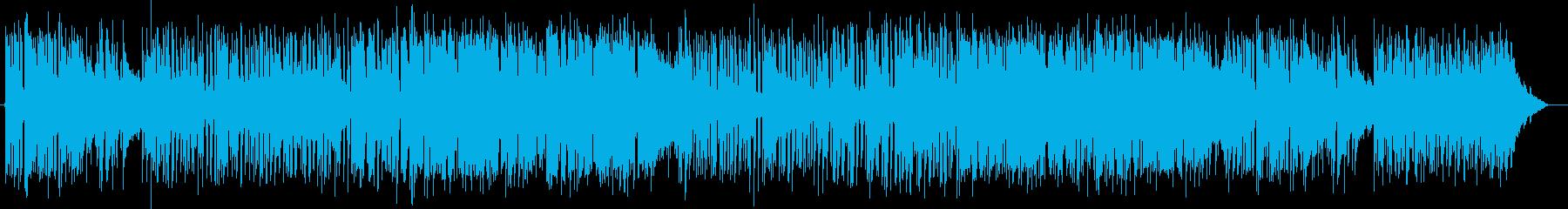 親しみあるポップソング風BGMの再生済みの波形