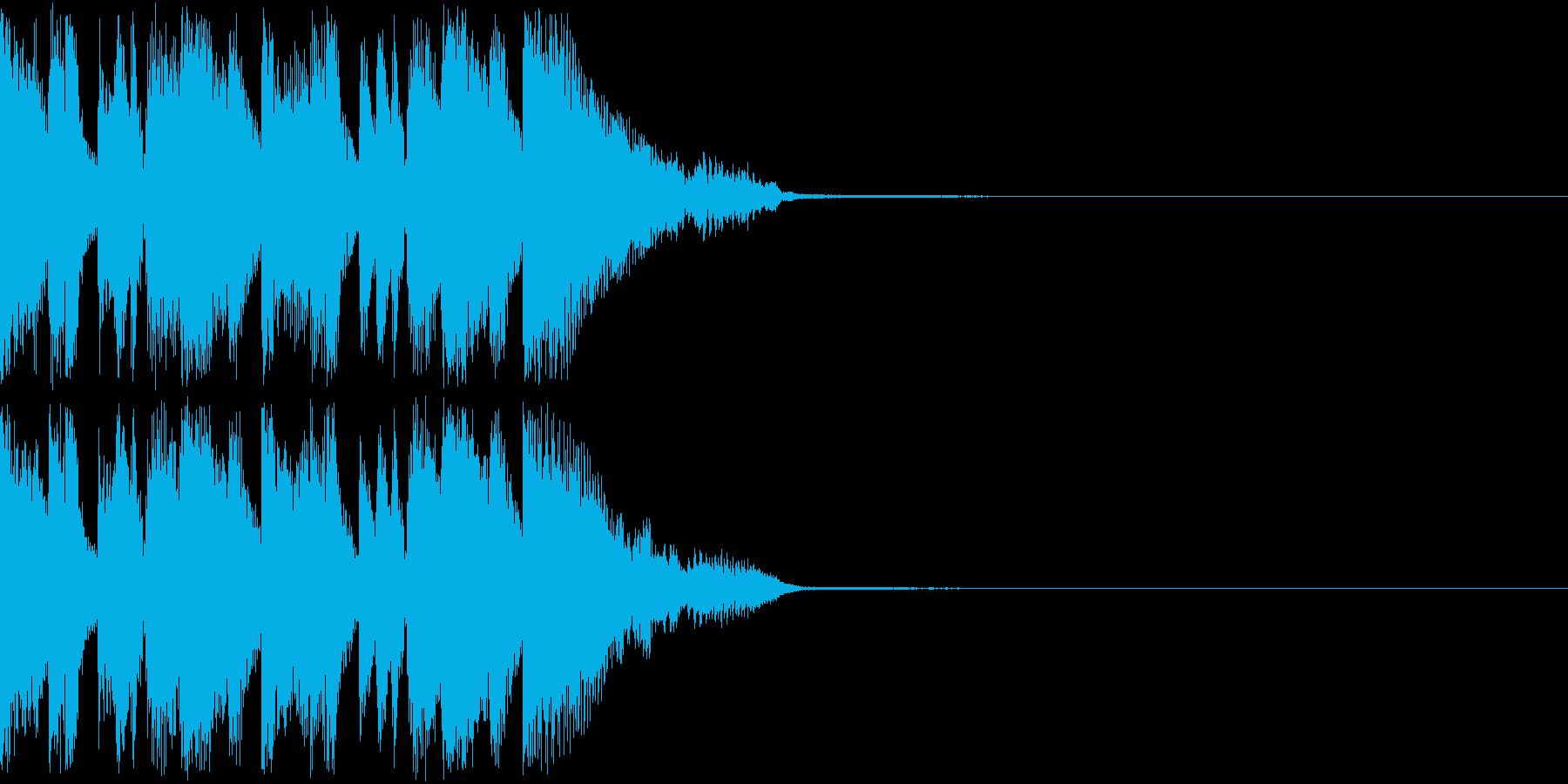 テクノポップなジングルの再生済みの波形