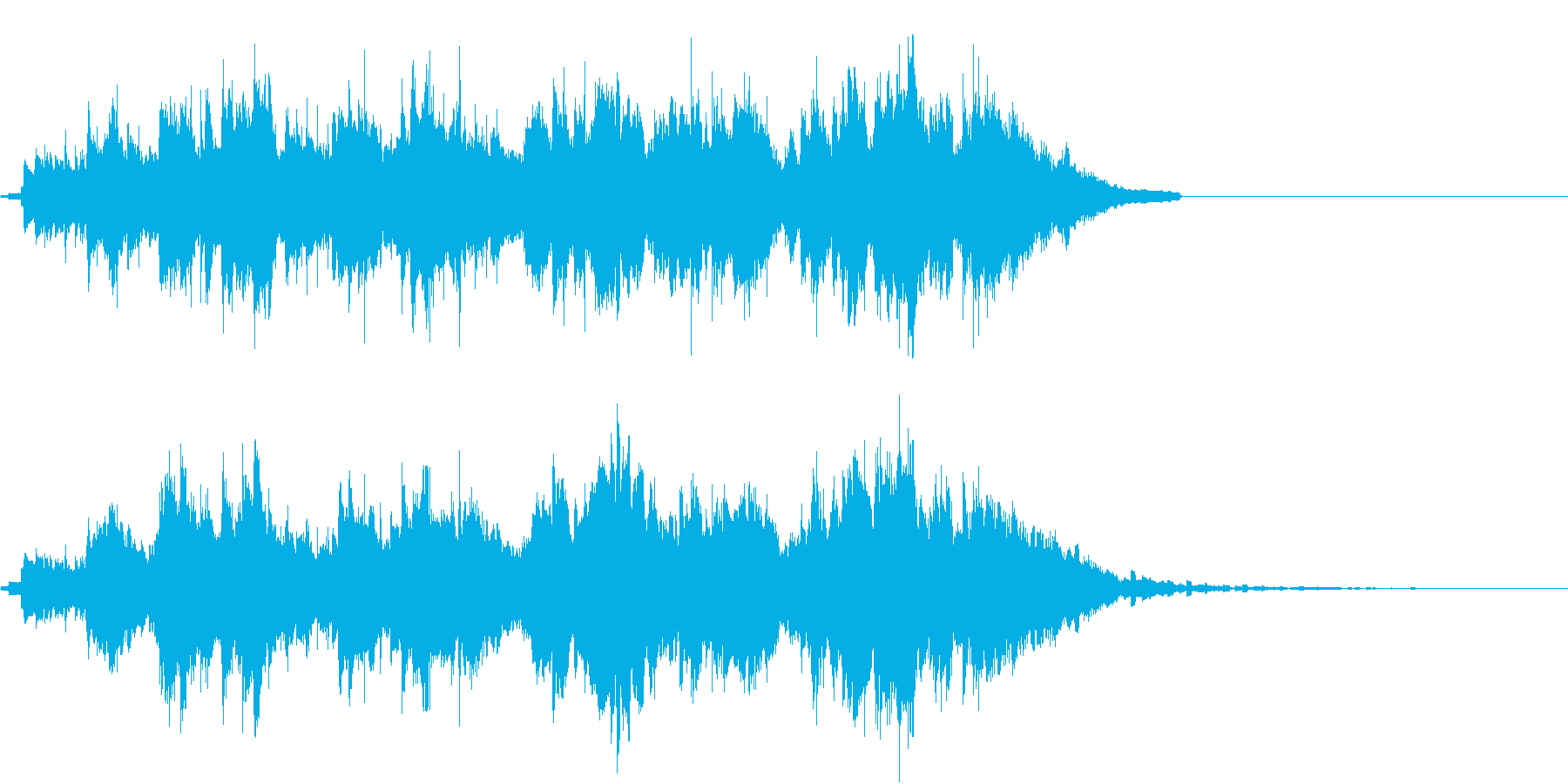 平和的なギター主体の曲の再生済みの波形
