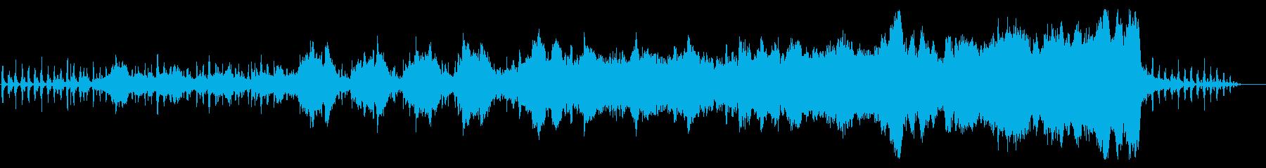 柔らかく幻想的なオーケストラ曲の再生済みの波形