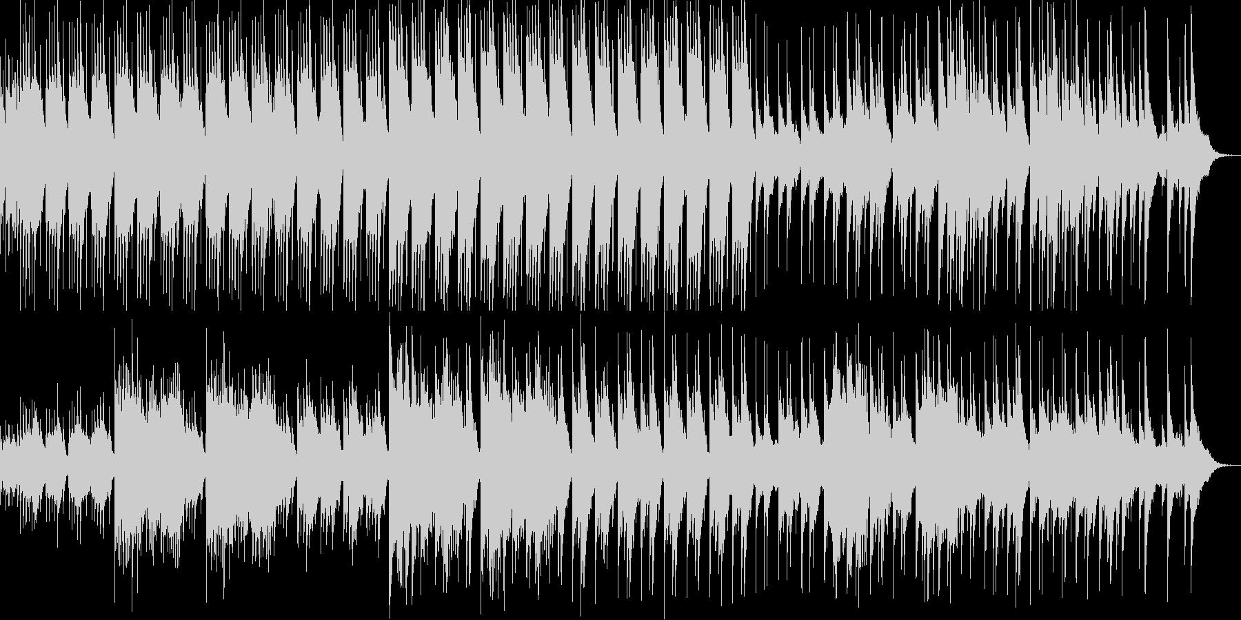 雅楽を感じさせる神秘的な和風の曲の未再生の波形