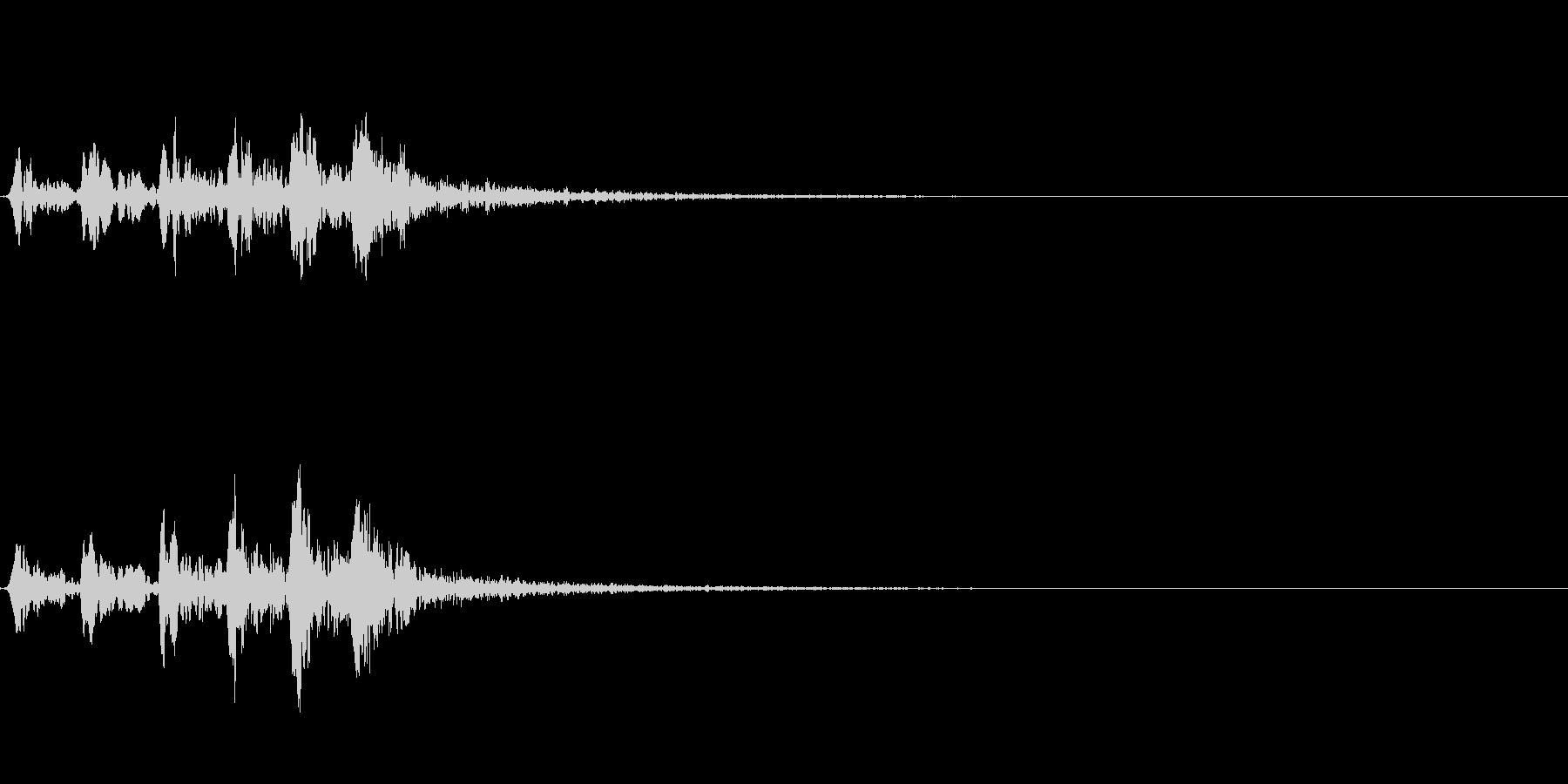 ホトトギスの鳴き声 05の未再生の波形