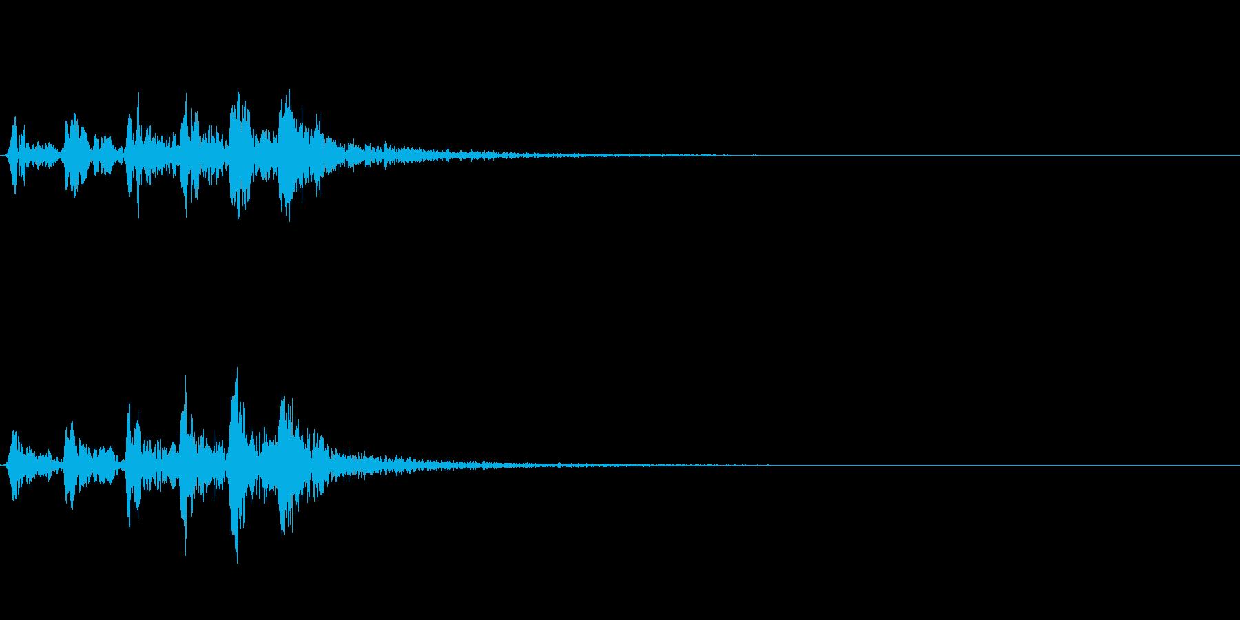 ホトトギスの鳴き声 05の再生済みの波形