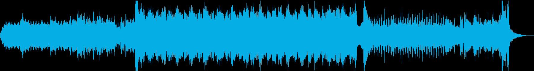 トレーラー風の重厚エピック系オーケストラの再生済みの波形