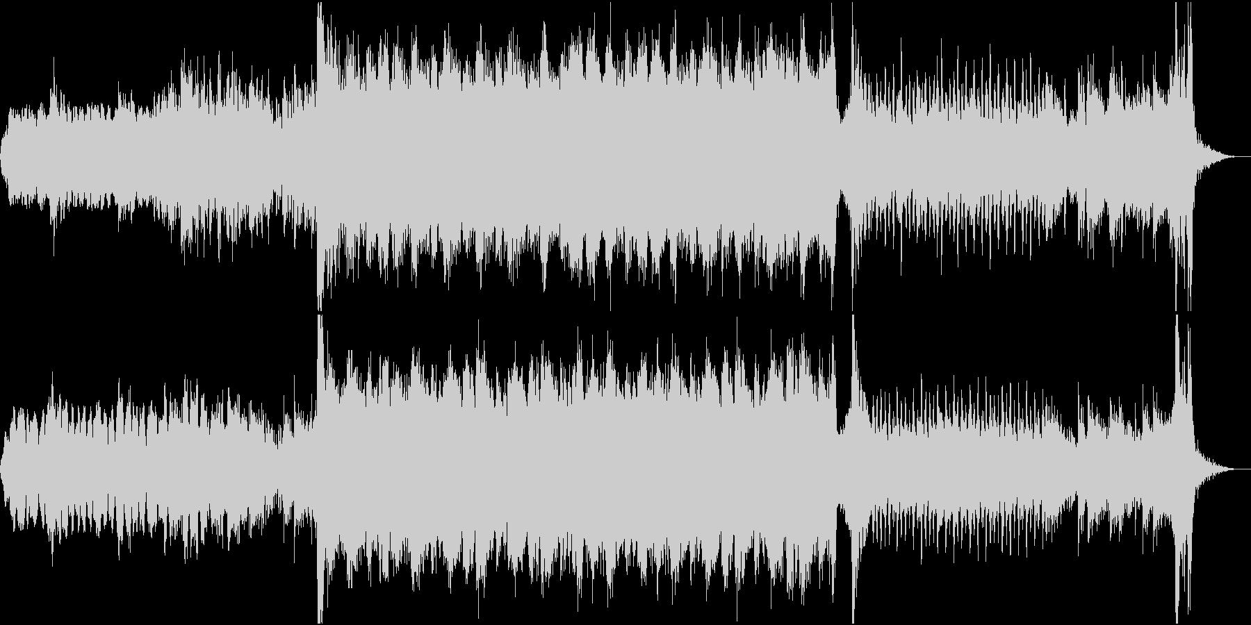 トレーラー風の重厚エピック系オーケストラの未再生の波形