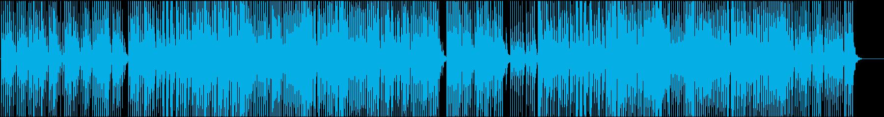 和風BGM 三味線による勢いある中テンポの再生済みの波形