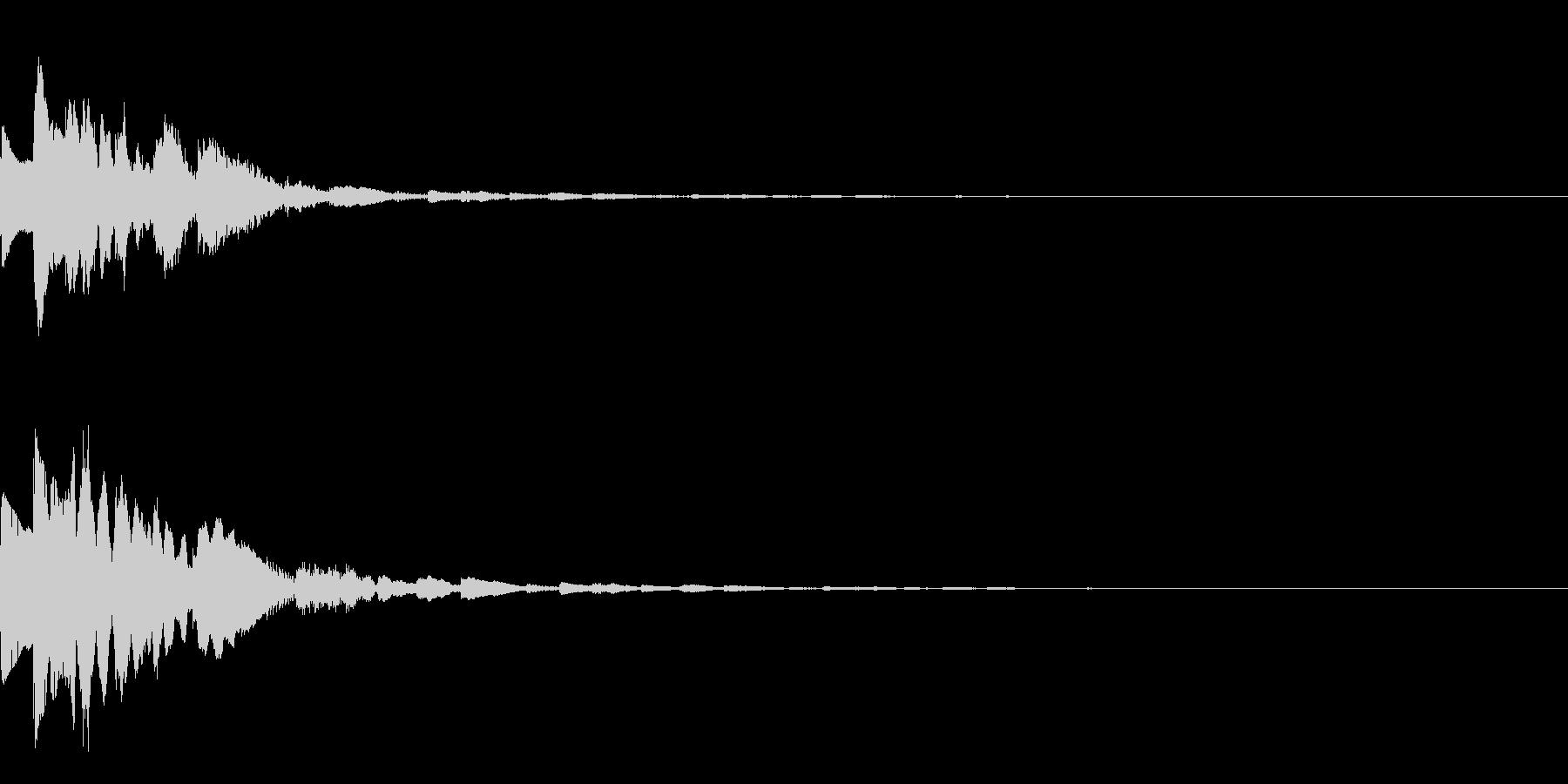 GameSFX ゲーム内の効果音 2の未再生の波形