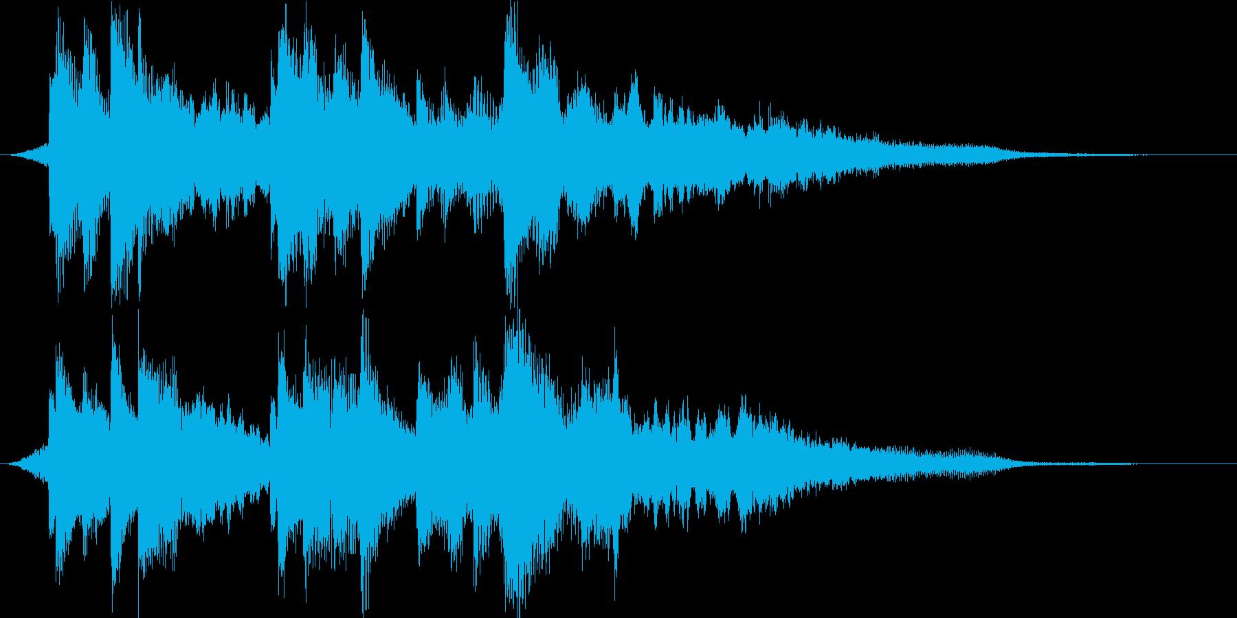 【ジングル】きれい系、ドキュメンタリー風の再生済みの波形