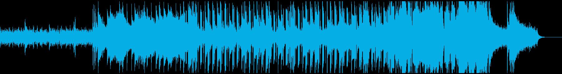 ピアノと木管が主体のポップスの再生済みの波形