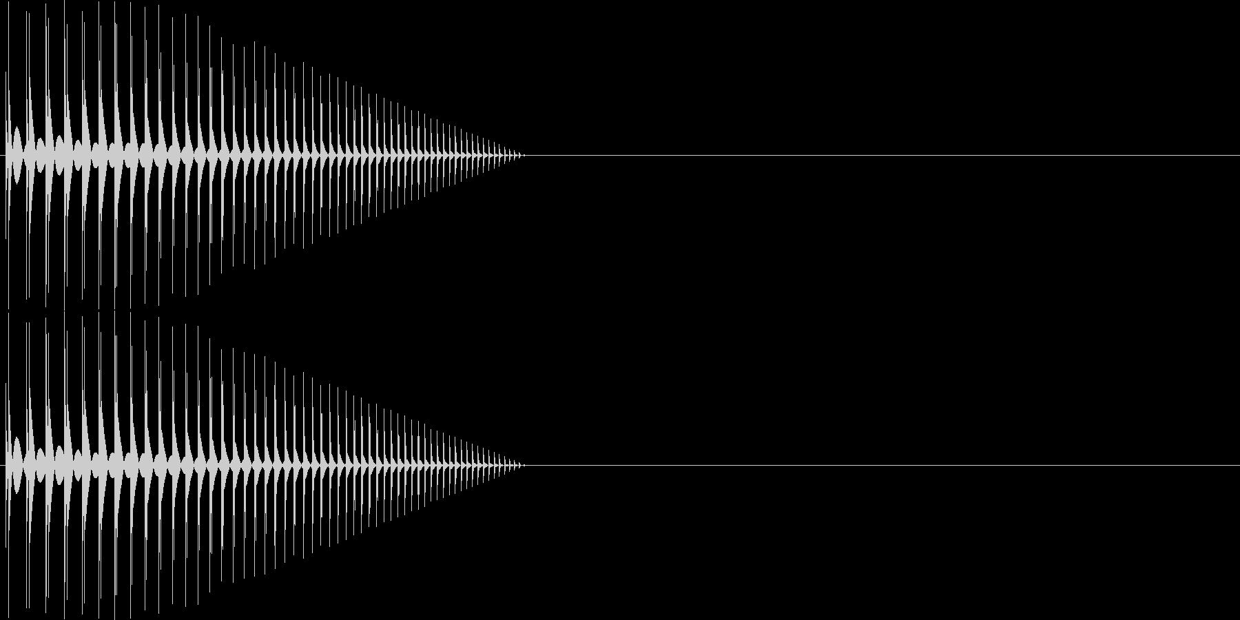 ボヨーン パワーアップ 短めの未再生の波形