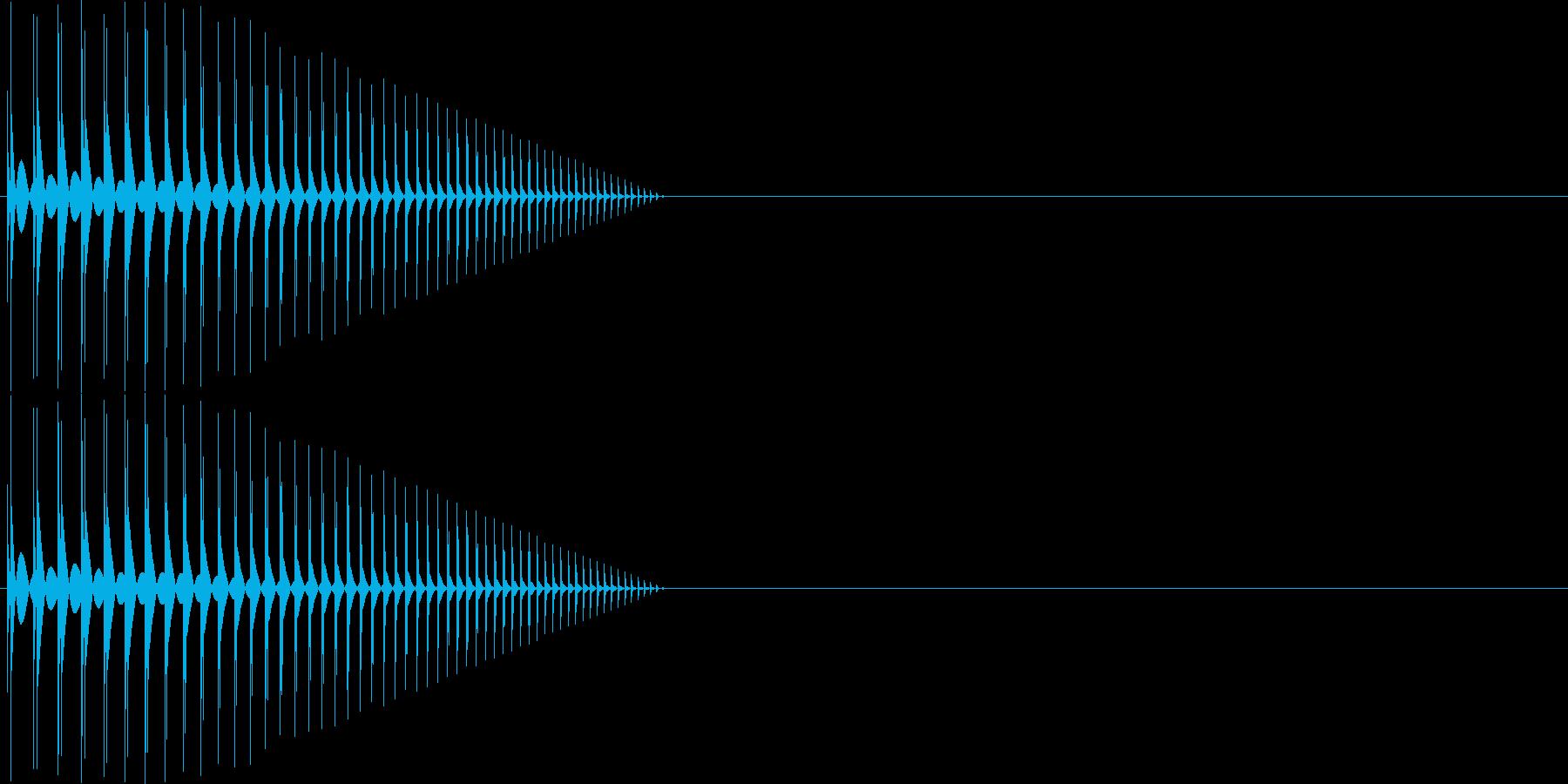 ボヨーン パワーアップ 短めの再生済みの波形