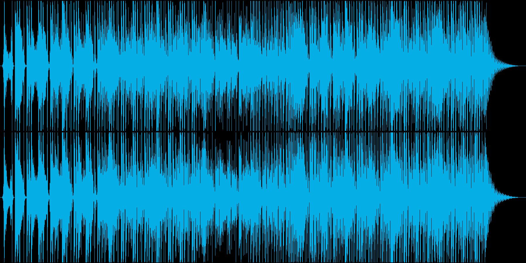 ボイスサンプルによるEDMポップの再生済みの波形
