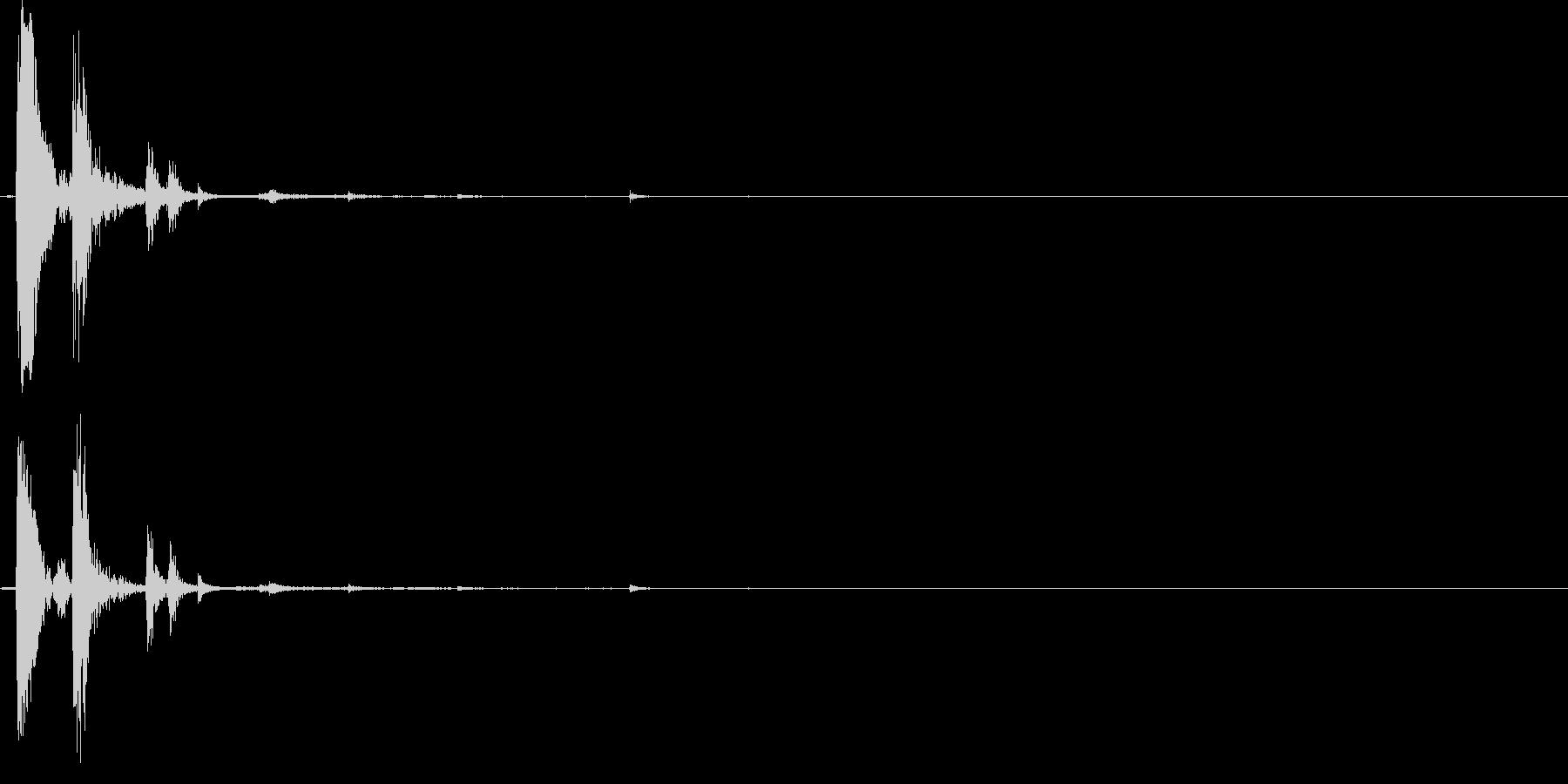 ポチャン(軽め)の未再生の波形