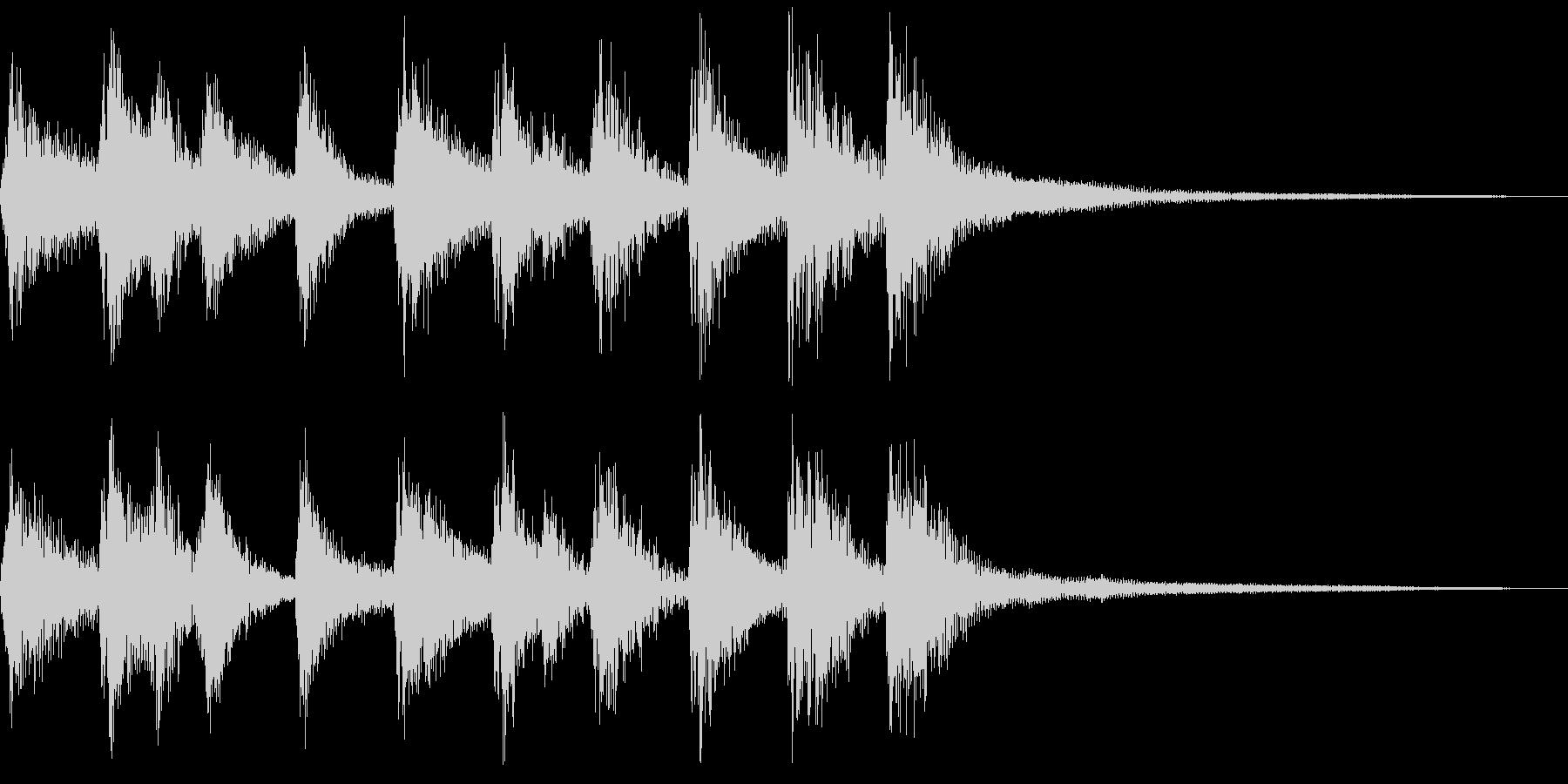 シンプルな三味線和風ジングルの未再生の波形