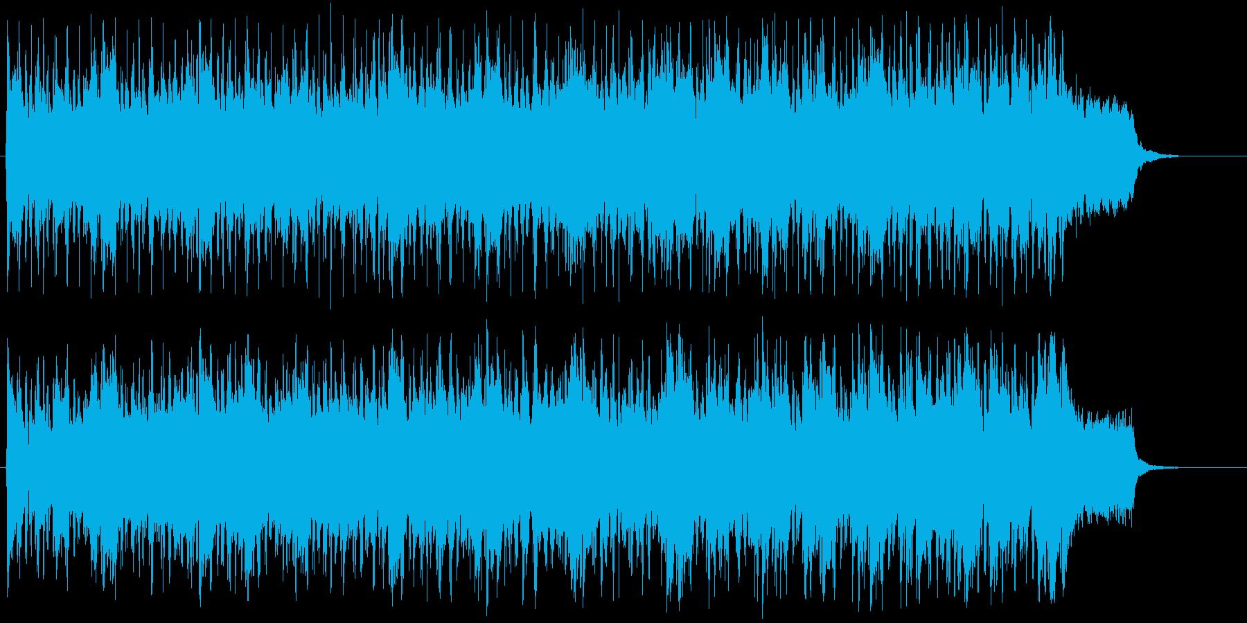 爽やかで前向きなジングルの再生済みの波形